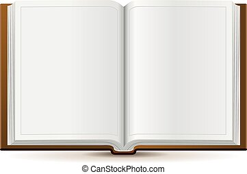 An open book in hardcover. Isolated illustration in vector...