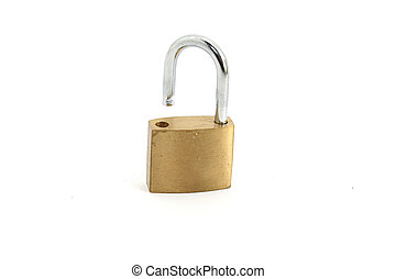 open padlock - an open padlock on white background