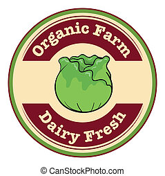 An organic farm and dairy fresh label