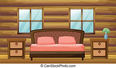 An organized bedroom