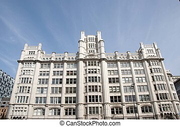 White Office Block - An Ornate Early Twentieth Century White...