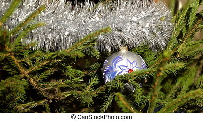 An ornated christmas tree