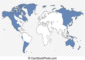 Outline of the World with the Flag of Antartica - An Outline...