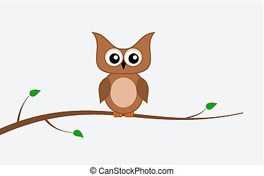 an owl on a branch