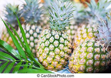 pineapple is nature fruit in soft light