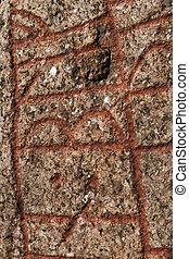 An rune stone in denmark