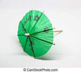 An umbrella on a white background