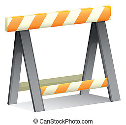 An under construction sign - Illustration of an under...