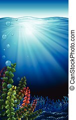 An underwater scenery