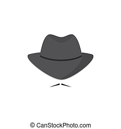 An unidentified man in a hat with a mustache. Mafioso....