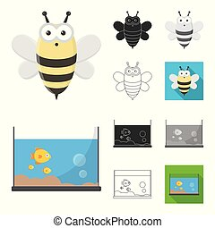 An unrealistic animal cartoon, black, flat, monochrome, outline icons in set collection for design. Toy animals vector symbol stock web illustration.