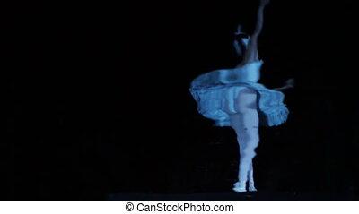 an unusual shot of a ballet dancer
