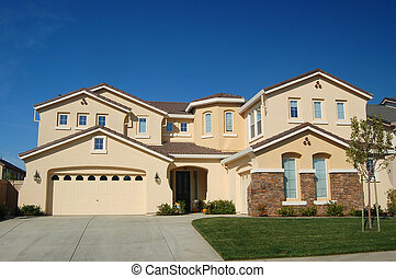 upscale house  - An upscale house in California
