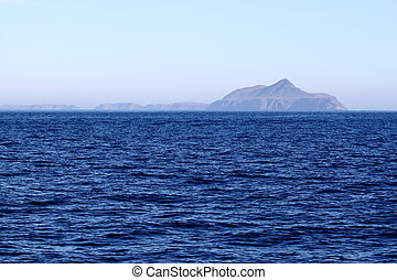 Anacapa Island at Channel Islands California with the ocean...
