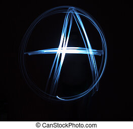 Anachist Sign Painted with Light - Single Anarchy sign...
