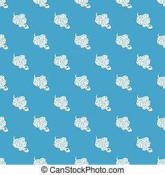 Anaconda snake pattern vector seamless blue repeat for any...