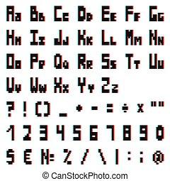 anaglyph, αλφάβητο , στέρεο , αποτέλεσμα , εικονοκύτταρο