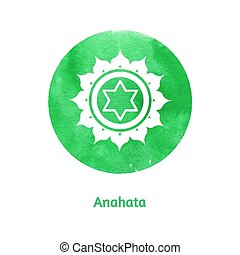 Anahata chakra. Vector Illustration.