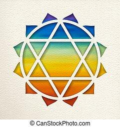 Anahata heart chakra design for yoga