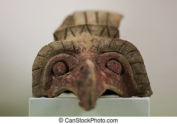Anahuacalli museum aztec sculpture head from collection of Diego