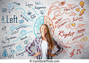 analítico, pensando, conceito, criativo