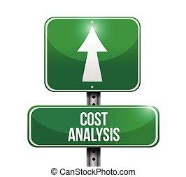 analízis, aláír, költség, tervezés, ábra, út