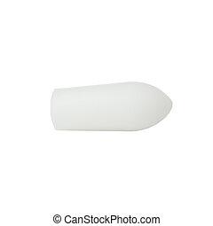 anal, vela, plano de fondo, blanco, aislado, o, vaginal