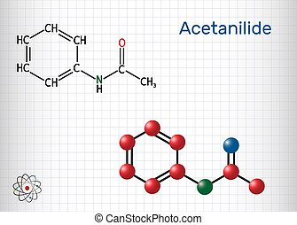 analgésique, a, papier, fever-reducing, chimique, il, ...