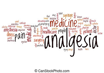 Analgesia word cloud