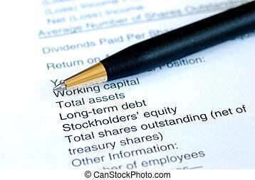 analisar, a, demonstração financeira