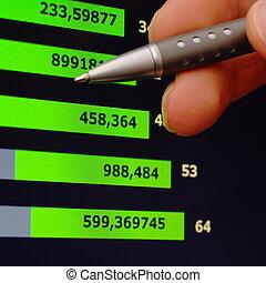 analisar, crescimento financeiro
