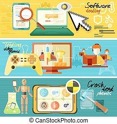 analisi, giochi, prova, abbattersi, software
