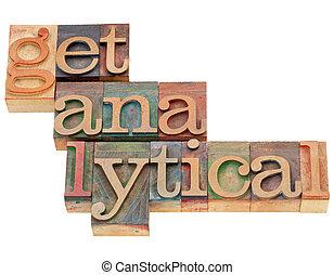 analityczny, drewno, typ, zdobywać
