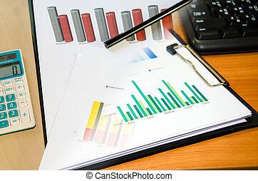 analiza, handlowy, wykresy