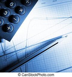analizar, financiero, datos