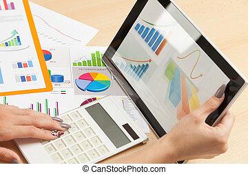 analizować, dane, handlowy
