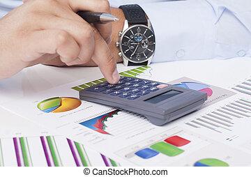 analizując, dane, handlowy
