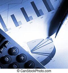 analizując, finansowy, dane