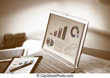 analizując, lokata, wykresy