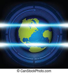 analizzare, globale, tecnologia