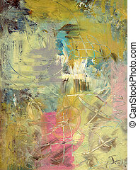 analog abstract painting