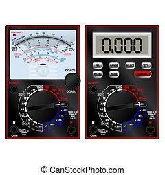 Analog and digital multimeter