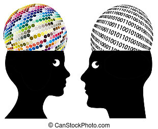 Man and woman may have different ways of cognition and perception