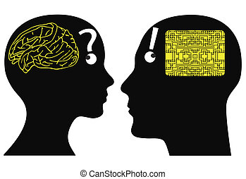 Man and woman may have different ways of cognition and thinking