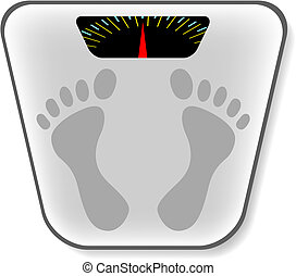 Analog bathroom scale. This image is a vector illustration and can be scaled to any size without loss of resolution