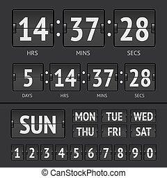 Analog black scoreboard