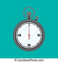 Analog chronometer timer counter, stopwatch.