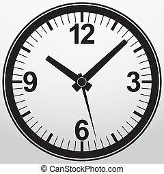 Analog clock app icon, vector illustration