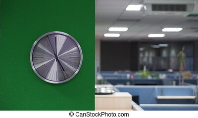 Analog clock in the office