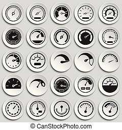 Analog gauge meter on plates background for graphic and web design, Modern simple vector sign. Internet concept. Trendy symbol for website design web button or mobile app.